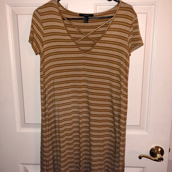 Forever 21 Dresses & Skirts - Yellow/white striped flowy dress